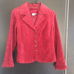 Live a Little Suede Leather Jacket / Size Small